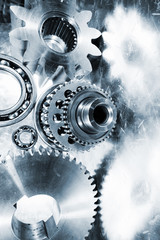 titanium and steel aerospace gears and cogwheels