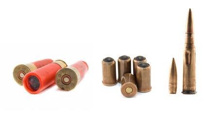ammunitions isolated