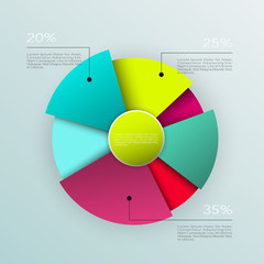 Business pie chart , Infographics circle graph Vector illustrati