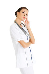 Thinking medical doctor