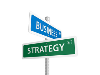 BUSINESS STRATEGY street signs (profit performance leadership)
