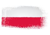 brushstroke flag Poland