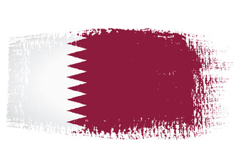 brushstroke flag Qatar