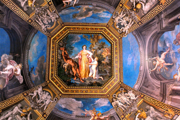 Gallery Ceiling in Vatican Museums