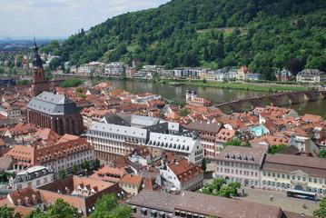 Stadtansicht Heidelberg Baden Württemberg Altstadt