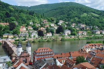 Heidelberg Neuenheim Alte Brücke Neckar Brückentor