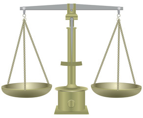 Old balance scales