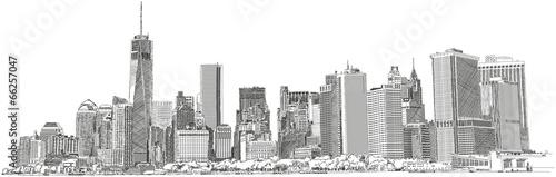 New York Skyline skyscraper Wolkenkratzer Zeichnung - 66257047