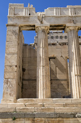 The entrance to the Acropolis, Athens, Greece