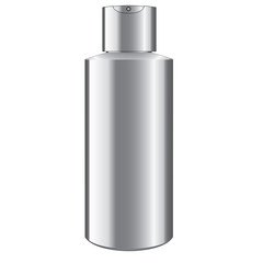 Aluminum canister on white. Raster