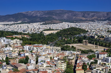 Athens, Greece, as seen from the Acropolis