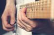 Leinwanddruck Bild - Guitarist playing an electric guitar