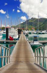 Pier at Eden Island, Mahe, Seychelles