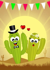 Cactus in love