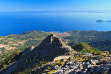 Fototapeta Elba island overview from Mount Capanne