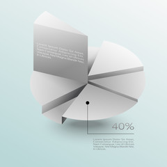 Business Infographics graph Vector.Eps 10