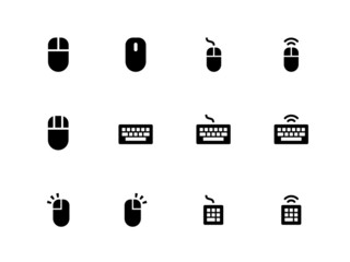 Mouse and Keyboard icons on white background.
