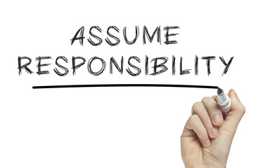 Hand writing assume responsibility