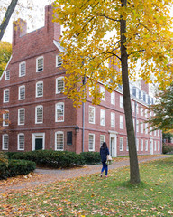Massachusetts Hall in Fall