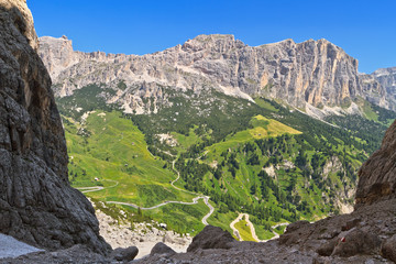 Dolomiti - view from Val Setus