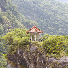 Traditional Pavillion atop Cliff