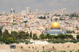 Jerusalem landscape as seen from the mount of olives.