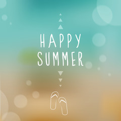 Happy summer. Blurred background