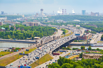 Moscow - city landscape, the Third Ring Road