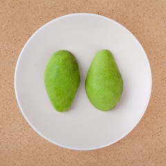 Peeled avocado