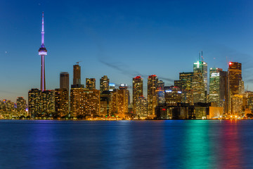 Toronto city at night