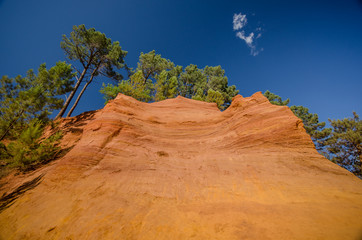roussillon, france: view of the   path of the ochre