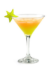 tropical cocktail with starfruit