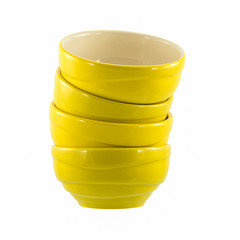 yellow ceramic bowls