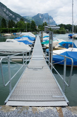 Jetty with yachts