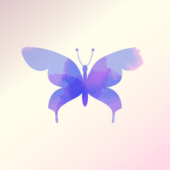 watercolor butterfly vector, Eps 10
