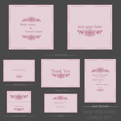 set de tarjetas para hotel