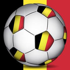 Belgium soccer ball, vector