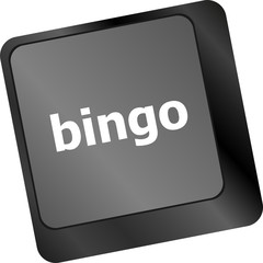 bingo button on computer keyboard keys