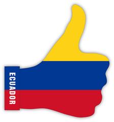 Ecuador Daumen hoch, Ecuador thumbs up