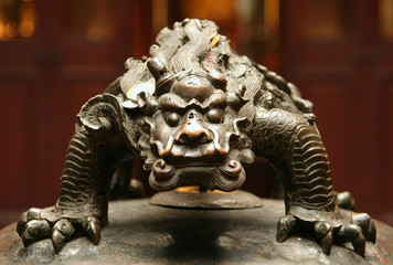 bronze figure of chinese mythological beast