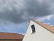 Regenwolke über dem Gewerbegebiet in Oerlinghausen bei Detmold