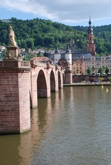 Heidelberg Alte Brücke Karl-Theodor-Brücke Heiliggeistkirche