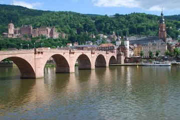 Heidelberg Schloss Alte Brücke Heiliggeistkirche Neckar