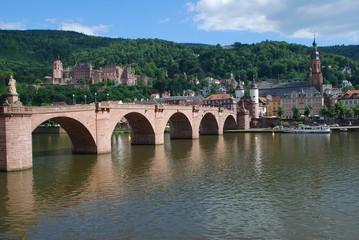 Heidelberg Schloss Alte Karl Theodor Brücke Neckar