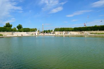 Lake in the Tuileries Garden, Paris