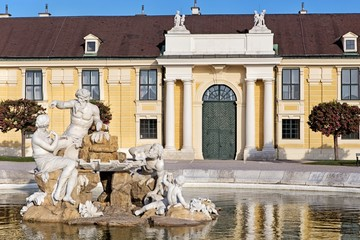 Sculpture Donau, Inn, and Enns in Schonbrunn palace