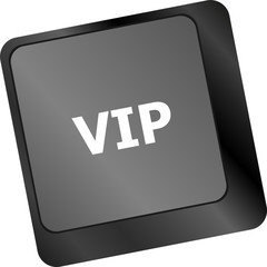 VIP written button keys on computer keyboard