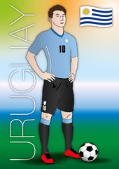 uruguay soccer player uniform