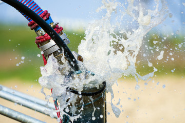 Cleaning newly constructed water bore or well