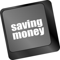 saving money for investment with a button on computer keyboard